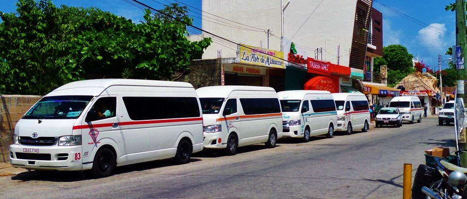 transportes tipicos en riviera maya
